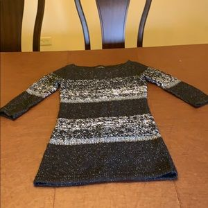 Black and silver sweater dress
